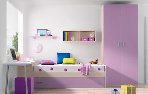habitacin para nia en lila y blanco