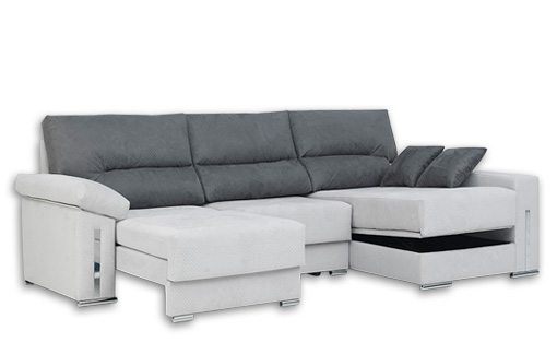 bed with chaise longue
