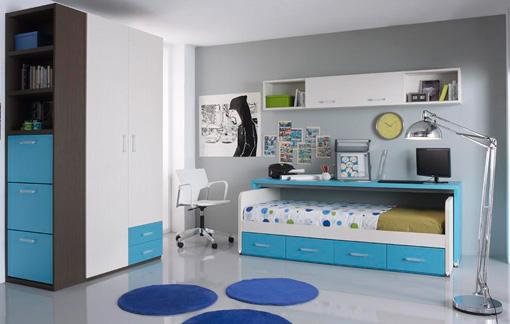Muebles de dormitorios juveniles modernos for Habitaciones infantiles zaragoza