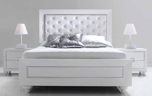Dormitorios y habitaciones de matrimonio cabecero camas y - Dormitorios muebles blancos ...
