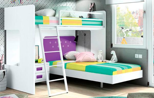 Dormitorios juveniles muebles para habitaciones - Dormitorios infantiles para dos ...