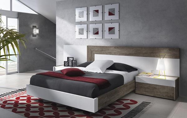 Dormitorios y habitaciones de matrimonio cabecero camas y for Dormitorio matrimonio negro