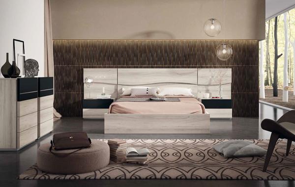 Dormitorios y habitaciones de matrimonio cabecero camas y for Dormitorio negro