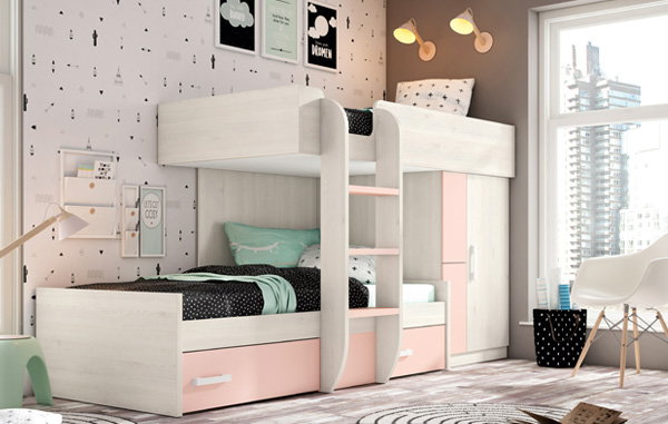 Dormitorios juveniles muebles para habitaciones for Muebles de cuartos infantiles