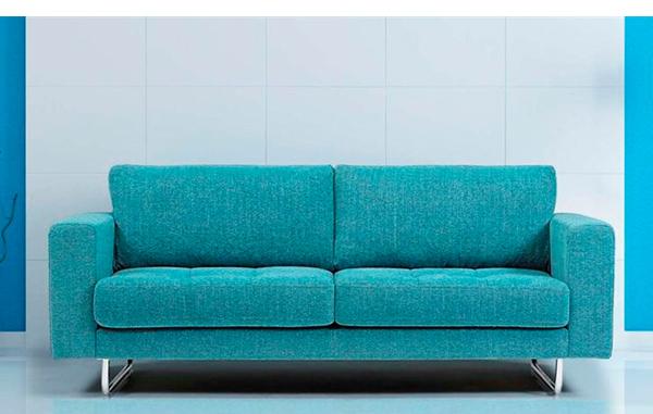 Sof de 3 plazas recto y actual con patas met licas de - Medidas sofa 3 plazas ...